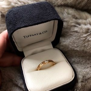 Tiffany & Co Atlas Collection Closed Narrow Ring